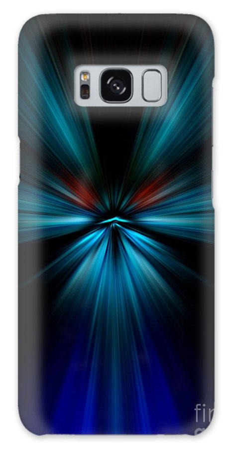 Abstract Galaxy S8 Case featuring the digital art Blues by Trena Mara