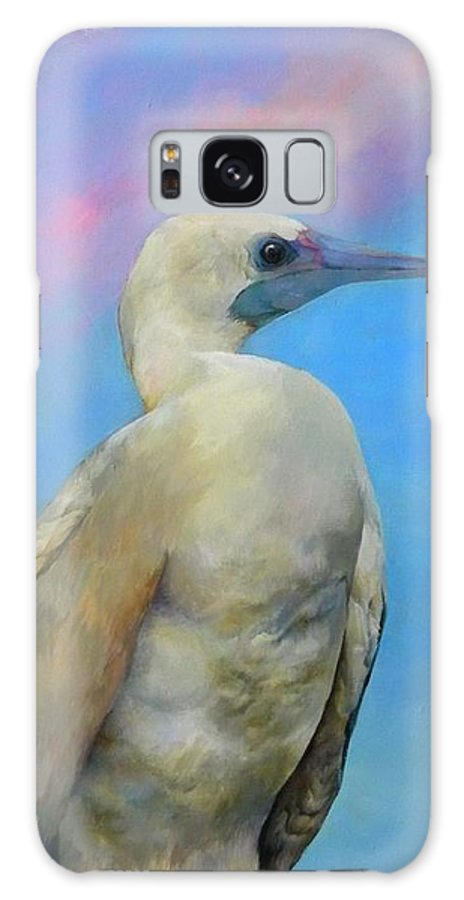 Bird And Sunset. Galaxy S8 Case featuring the painting Bluie by Kathryn Alexander