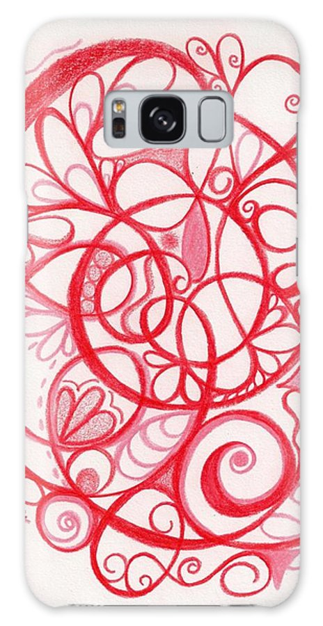 Pencils Galaxy S8 Case featuring the drawing Blush by Anna Gleyzer