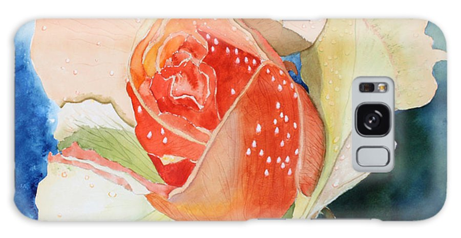 Rose Galaxy Case featuring the painting Blushing Bloom by Patricia Novack