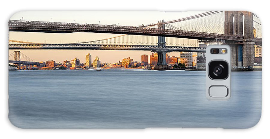 Big Apple Galaxy S8 Case featuring the photograph Bmw New York City Bridges by Susan Candelario