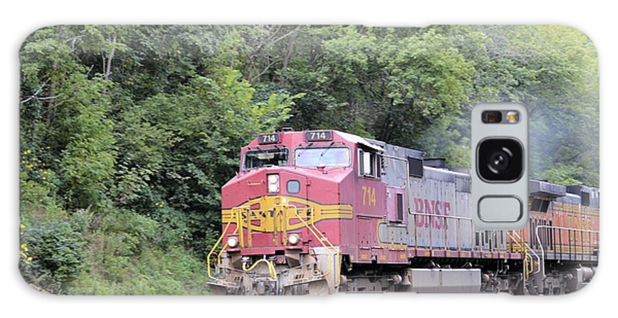 Train Galaxy S8 Case featuring the photograph Bnsf Train by Bonfire Photography