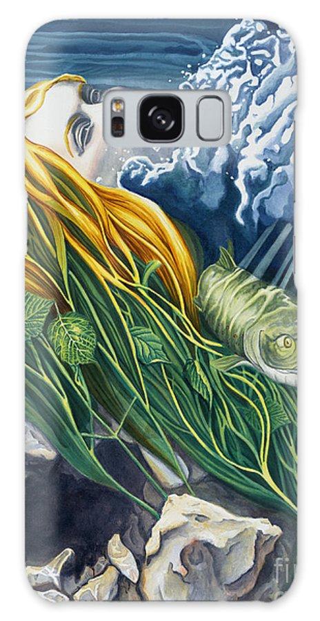 Boann Galaxy S8 Case featuring the painting Boann Transformation Of A Goddess by Do'an Prajna - Antony Galbraith