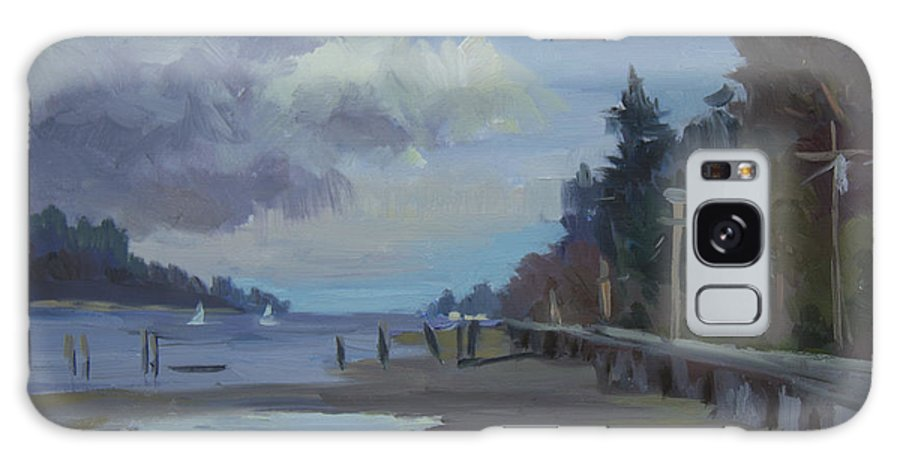 Vashon Island Galaxy S8 Case featuring the painting Boardwalk On Vashon Island by Diane McClary