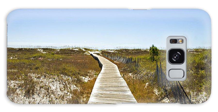 Wooden Galaxy S8 Case featuring the photograph Boardwalk by Susan Leggett