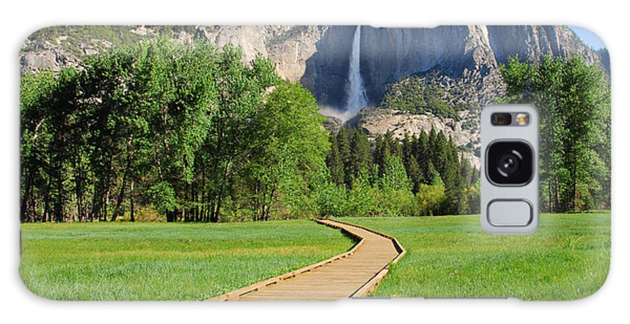 Yosemite National Park Galaxy S8 Case featuring the photograph Boardwalk To Yosemite Falls by Lynn Bauer