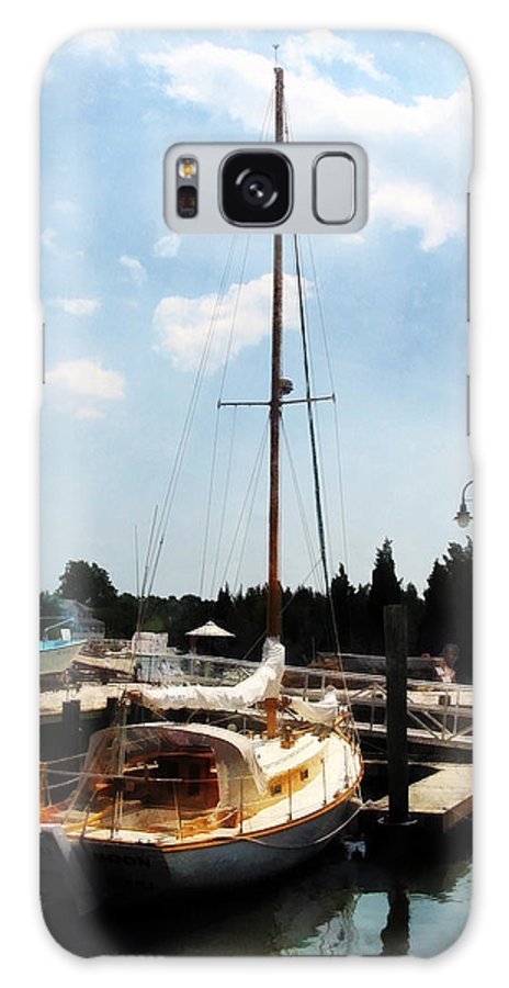 Cabin Cruiser Galaxy S8 Case featuring the photograph Boat - Docked Cabin Cruiser by Susan Savad