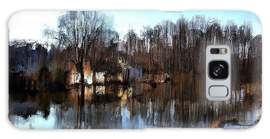 Landscape Galaxy S8 Case featuring the mixed media Boat House 2 by Terence Morrissey