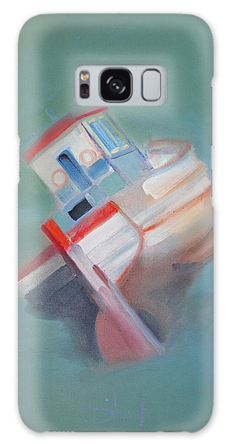 Fishing Boat Galaxy Case featuring the painting Boat Retired Tavira by Charles Stuart