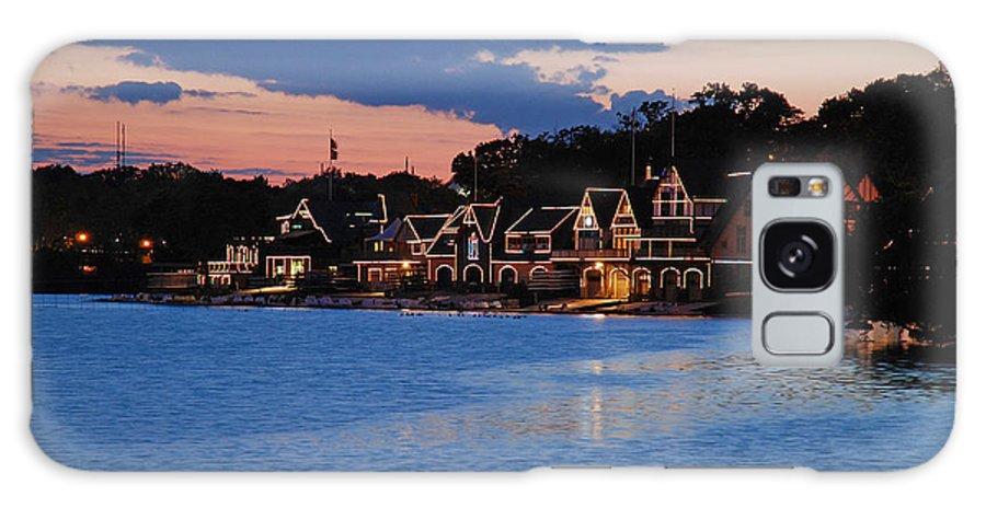 Boathouse Row Galaxy S8 Case featuring the photograph Boathouse Row Dusk by Jennifer Ancker