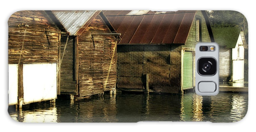 Traverse City Galaxy S8 Case featuring the photograph Boathouses On The River by Michelle Calkins