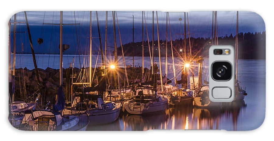 Sunset Galaxy S8 Case featuring the photograph Boats At Sunset by Irene Theriau
