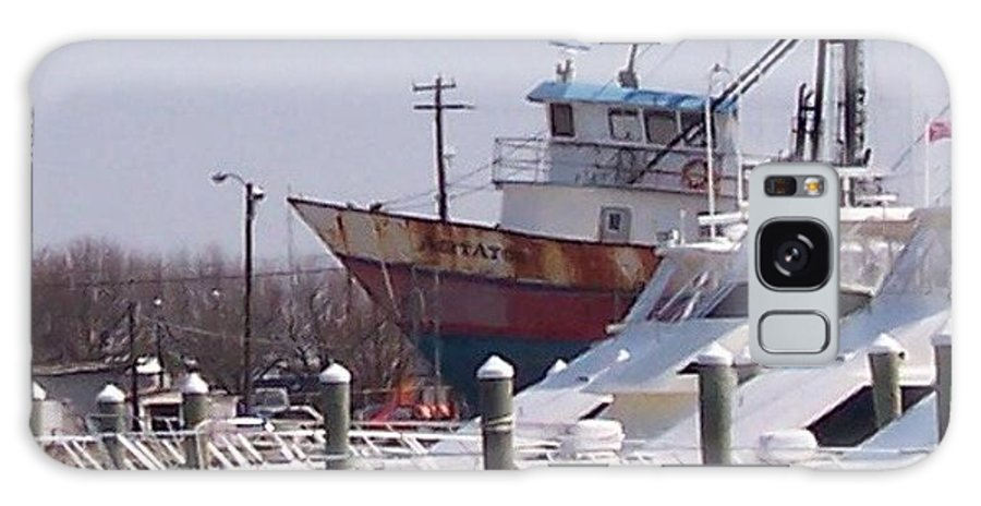 Boat Galaxy Case featuring the photograph Boats Docked by Pharris Art