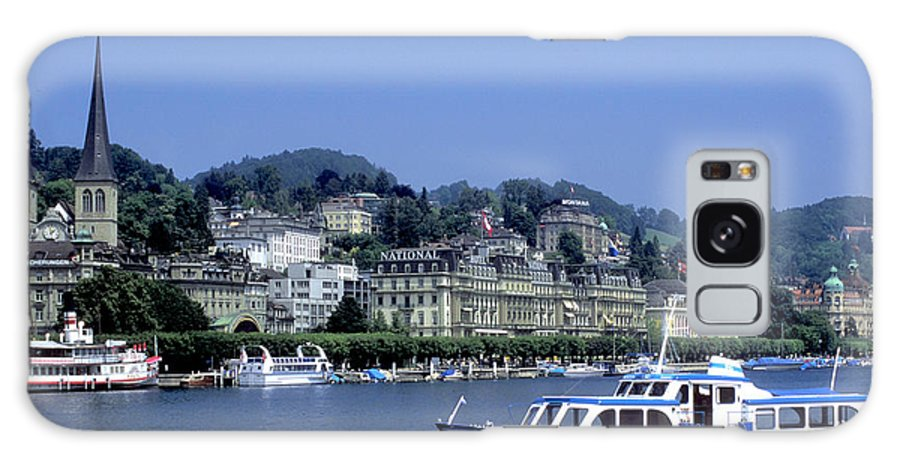Geneva Galaxy S8 Case featuring the photograph Boats On Lake Geneva by Carl Purcell