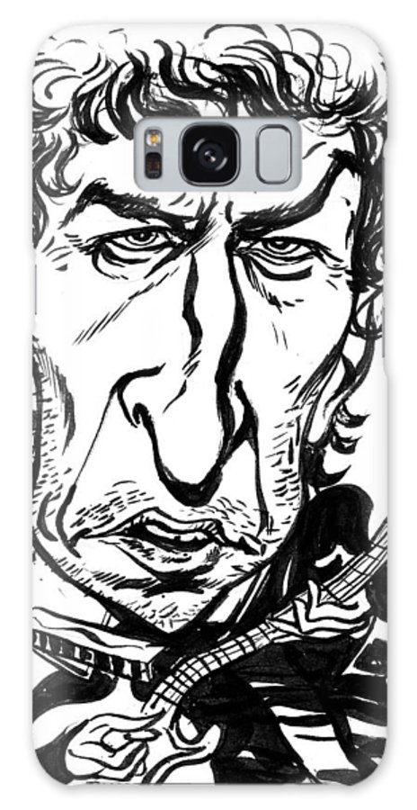 Bob Dylan Galaxy S8 Case featuring the drawing Bob Dylan by John Ashton Golden
