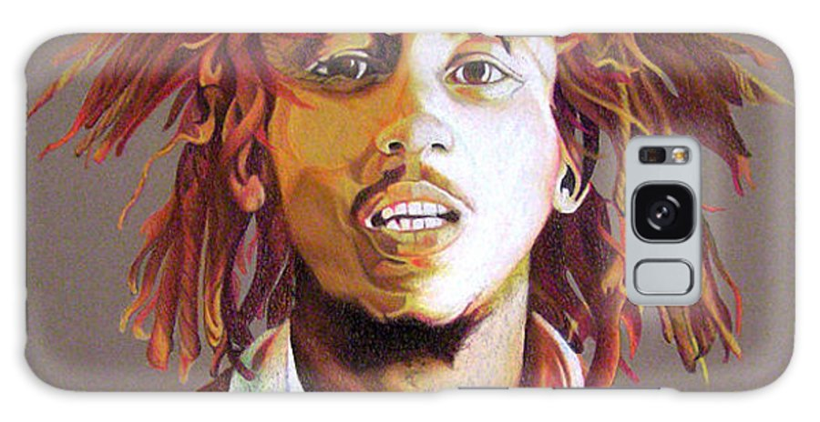 Bob Marley Galaxy S8 Case featuring the drawing Bob Marley Earth Tones by Joshua Morton