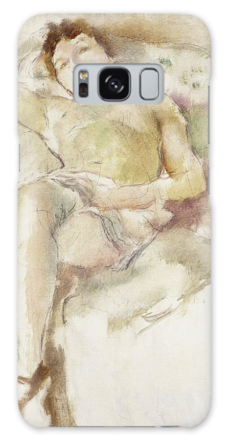 1920s Galaxy S8 Case featuring the painting Bobette Lying Down Bobette Allongee by Jules Pascin