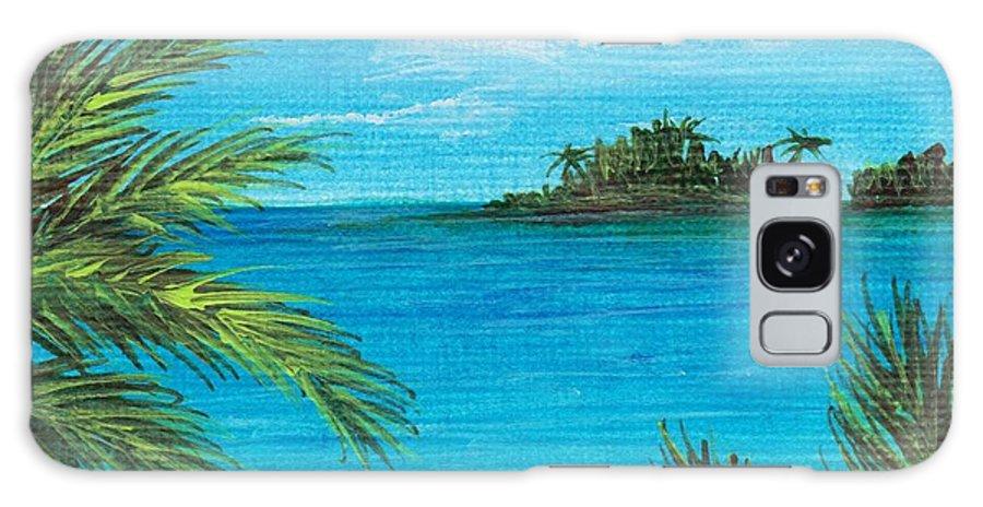 Interior Galaxy S8 Case featuring the painting Boca Chica Beach by Anastasiya Malakhova