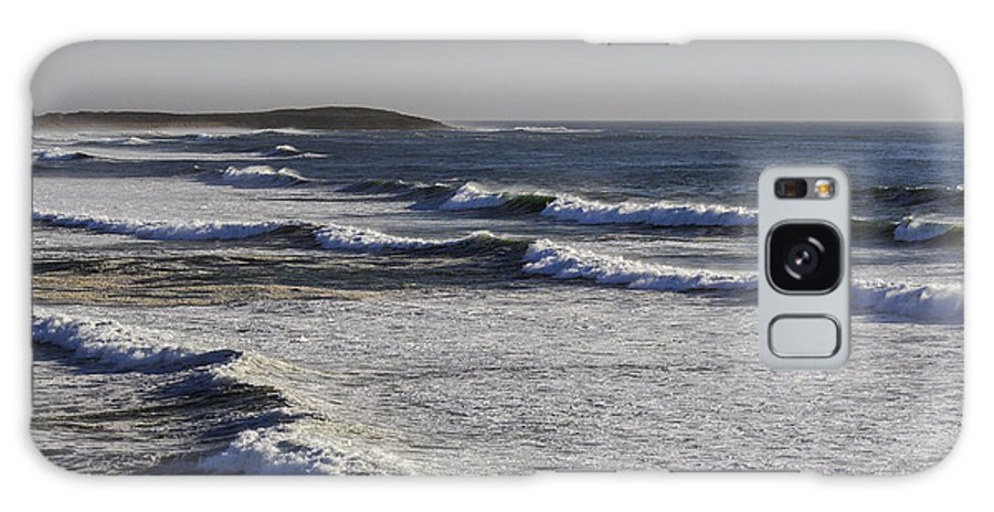 Bodega Bay California Wave Waves Water Oceans Sea Seas Pacific Ocean Bays Spray Shore Shores Shoreline Shorelines Beach Beaches Waterscape Waterscapes Galaxy S8 Case featuring the photograph Bodega Bay Beach by Bob Phillips