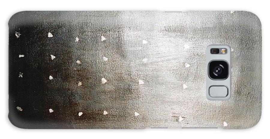 Meditation Galaxy S8 Case featuring the painting Bodhisattva Sanskrit by Fereshteh Stoecklein
