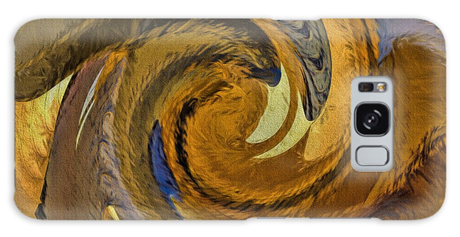 Abstract Galaxy S8 Case featuring the painting Bold Golden Abstract by Deborah Benoit
