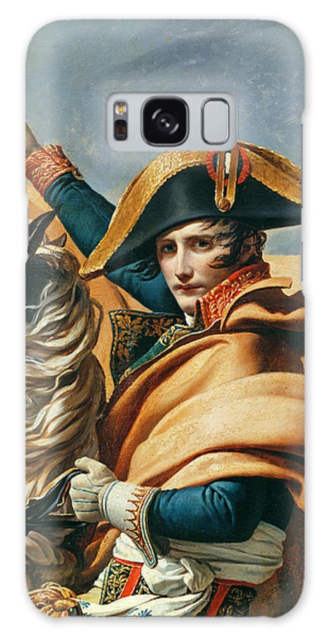 Emperor Galaxy S8 Case featuring the photograph Bonaparte Crossing The Alps Oil On Canvas Detail Of 18491 by Jacques Louis David