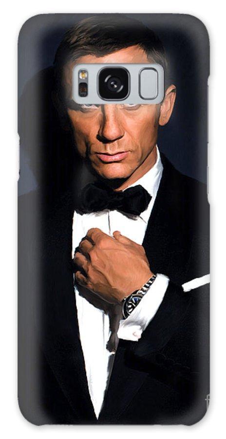 Daniel Galaxy S8 Case featuring the painting Bond - Portrait by Paul Tagliamonte