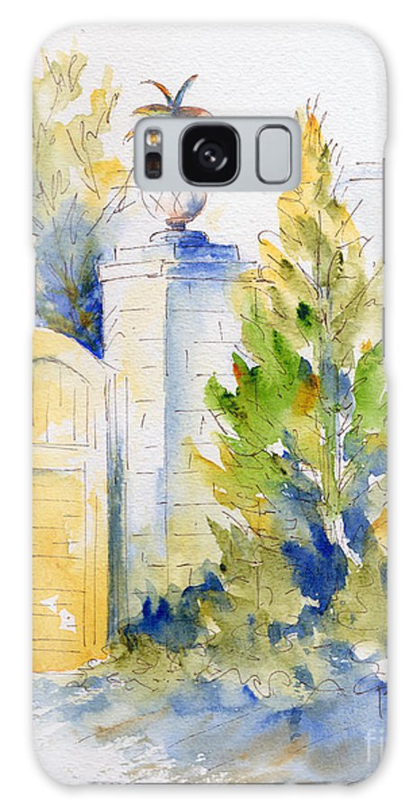 Impressionism Galaxy S8 Case featuring the painting Bonnet House Garden Gate by Pat Katz