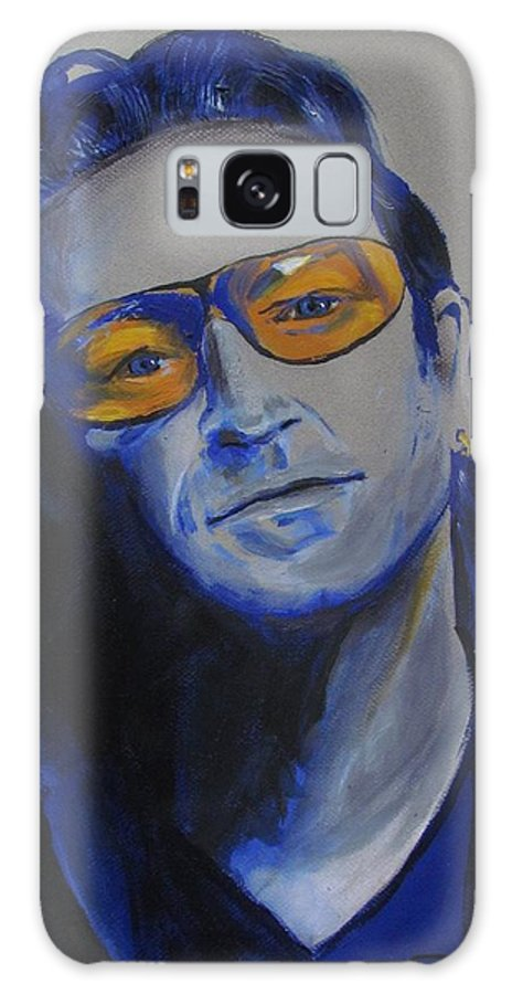 Celebrity Portraits Galaxy S8 Case featuring the painting Bono U2 by Eric Dee