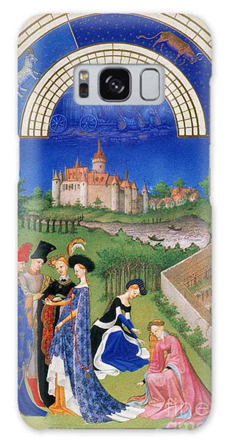 15th Century Galaxy S8 Case featuring the photograph Book Of Hours: April by Granger