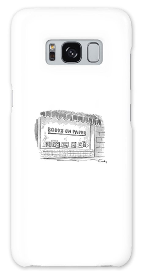 Books On Paper (name Of A Bookstore) Writing Galaxy Case featuring the drawing 'books On Paper' by Mike Twohy