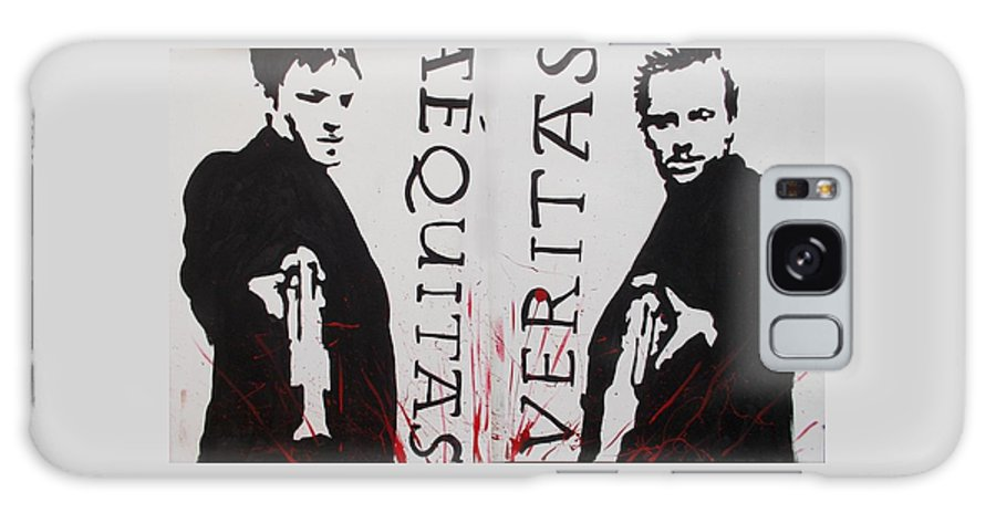 Boondock Saints Galaxy S8 Case featuring the painting Boondock Saints Whole by Marisela Mungia