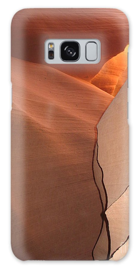 Narrow Canyon Galaxy S8 Case featuring the photograph Bordered Rock - Antelope Canyon by Christiane Schulze Art And Photography