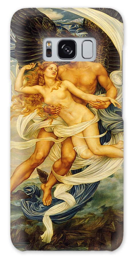 Evelyn De Morgan Galaxy S8 Case featuring the digital art Boreas And Orietyia by Evelyn de Morgan