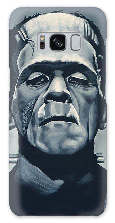 Frankenstein Galaxy Case featuring the painting Boris Karloff as Frankenstein by Paul Meijering