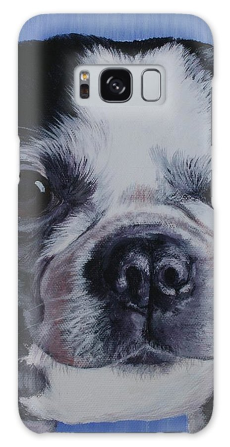 Dog Galaxy S8 Case featuring the painting Boston 1 by Wendy Whiteside