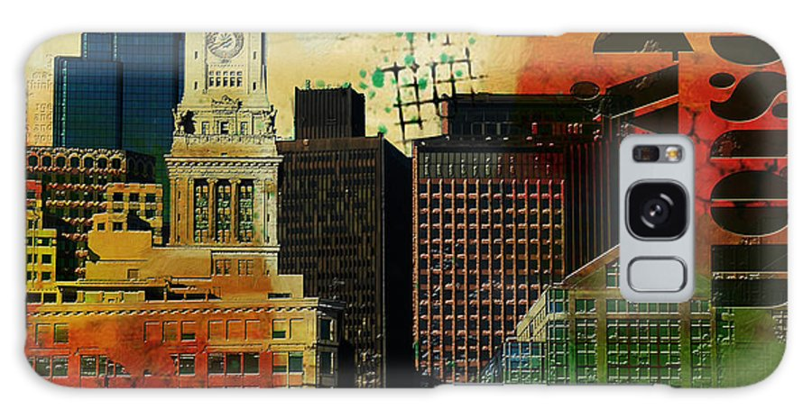 Boston City Galaxy Case featuring the painting Boston City Collage 2 by Corporate Art Task Force