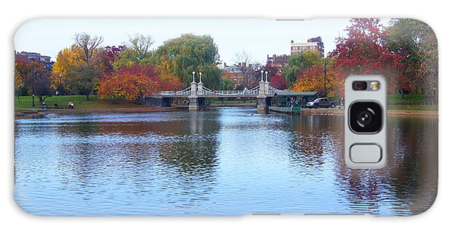 Boston Galaxy S8 Case featuring the photograph Boston Public Garden Lake by Erich Kirchubel