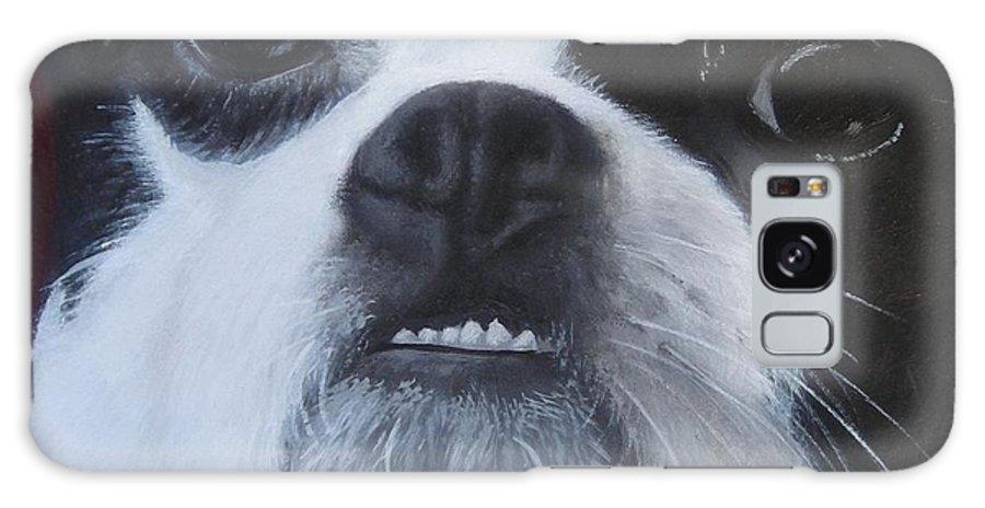 Boston Terrier Galaxy S8 Case featuring the painting Boston Underbite by Elizabeth Elgin