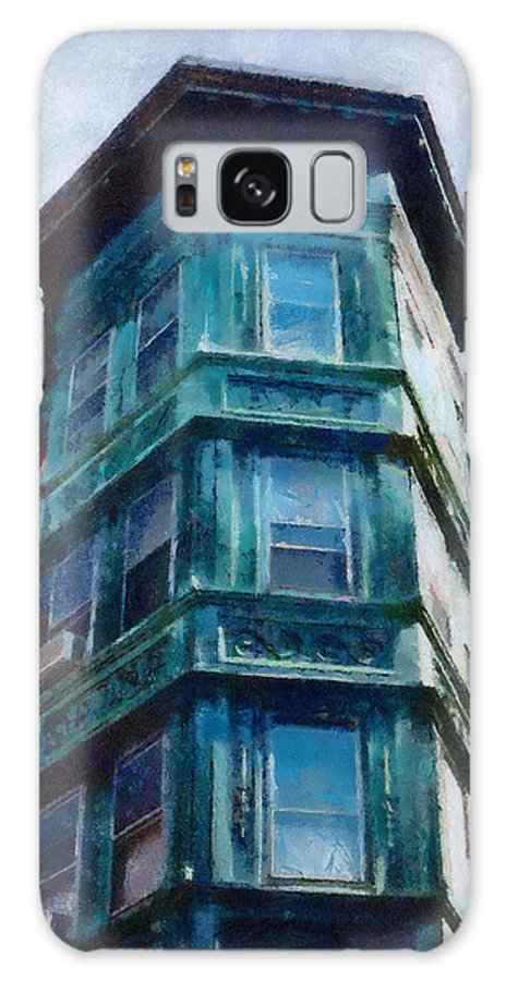 America Galaxy S8 Case featuring the painting Boston's North End by Jeffrey Kolker