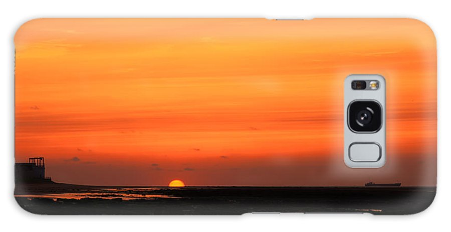 Botany Galaxy S8 Case featuring the photograph Botany Bay Orange Sunset by David Attenborough