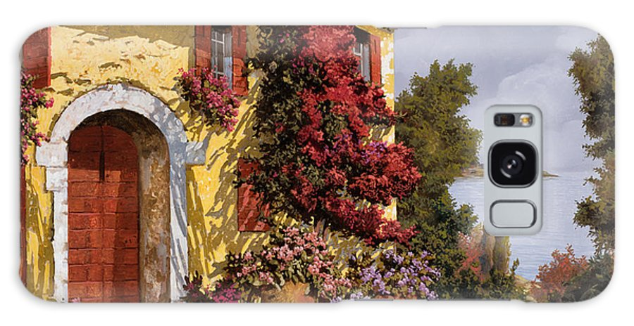 Bouganville Galaxy Case featuring the painting Bouganville by Guido Borelli
