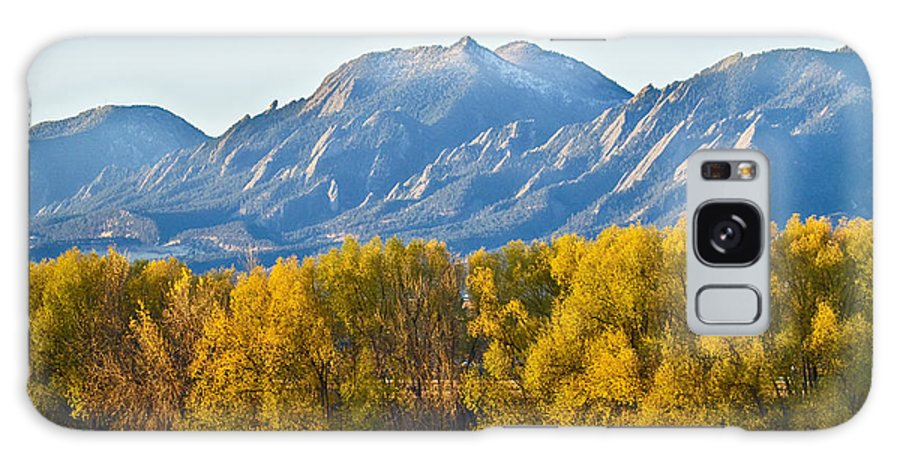 Flatirons Galaxy S8 Case featuring the photograph Boulder County Colorado Flatirons Autumn View by James BO Insogna