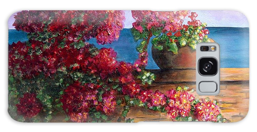 Bougainvillea Galaxy S8 Case featuring the painting Bountiful Bougainvillea by Laurie Morgan