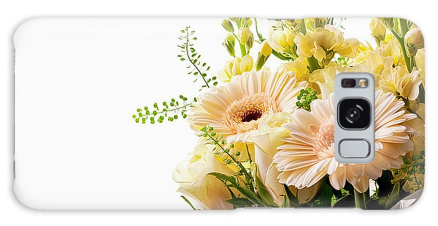 Flower Galaxy S8 Case featuring the photograph Bouquet Of Flowers On White Background by Simon Bratt Photography LRPS