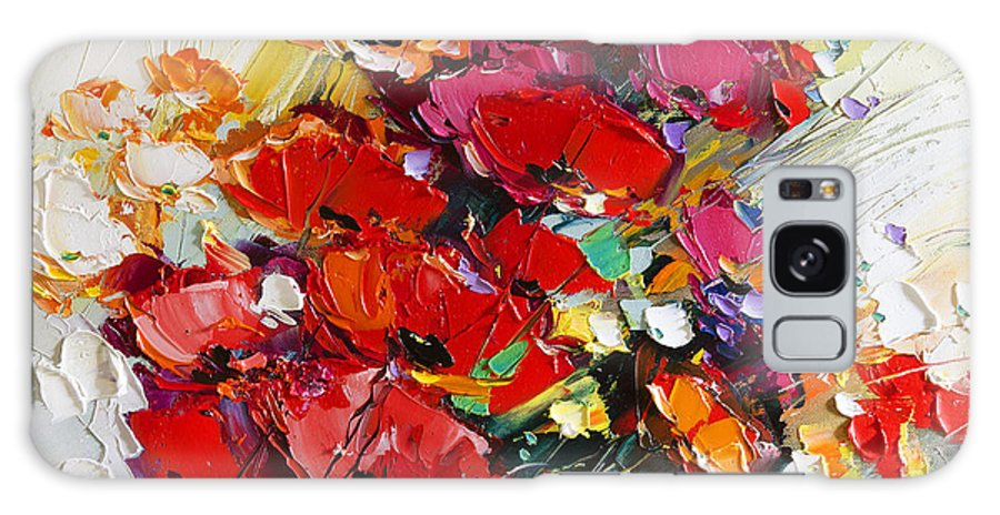 Still Life Galaxy S8 Case featuring the painting Bouquet Of Poppies by Michael Shabrin