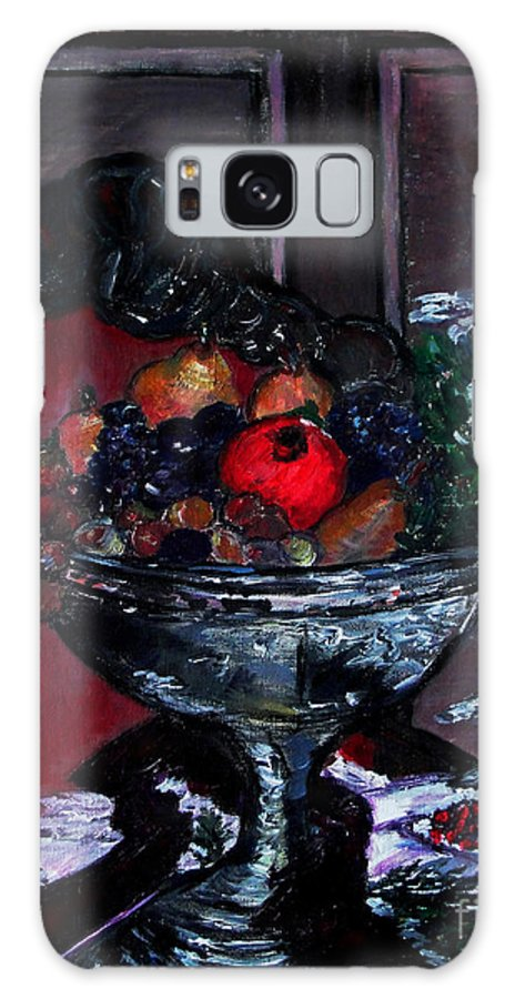 Holiday Fruit Bowl Galaxy S8 Case featuring the painting Bowl Of Holiday Passion by Helena Bebirian