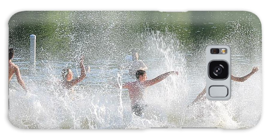 Splash Galaxy S8 Case featuring the photograph Boys Will Be Boys by Robin Vargo