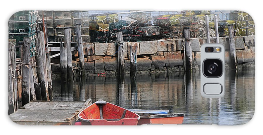 Seascape Galaxy S8 Case featuring the photograph Bradley Wharf Dinghies by Mike Martin