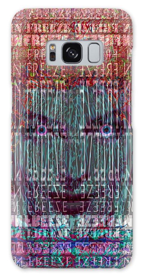 Brain Freeze Galaxy S8 Case featuring the digital art Brain Freeze by Seth Weaver